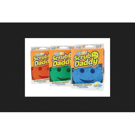 Scrub Daddy Colors Polymer Foam Scratch Free Sponge 4 in. - Lid Scrub Foam
