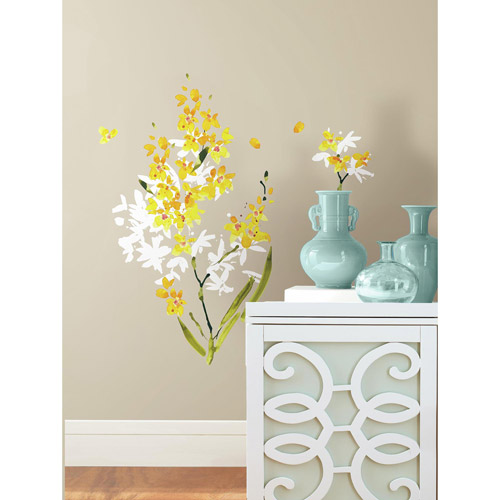 Yellow Flower Arrangement Peel and Stick Wall Decals