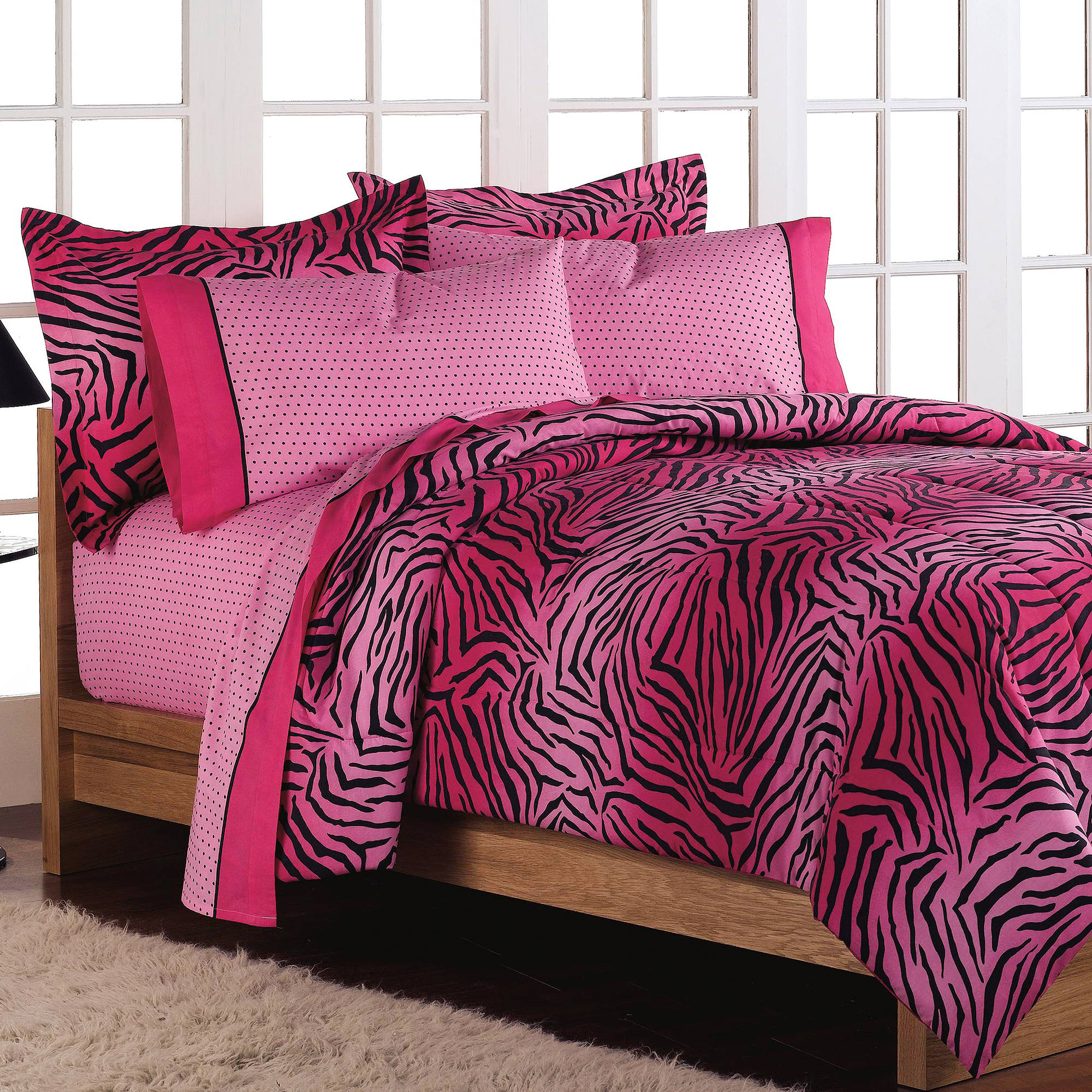 Loft Style Wild One Pink Reversible Bed in a Bag