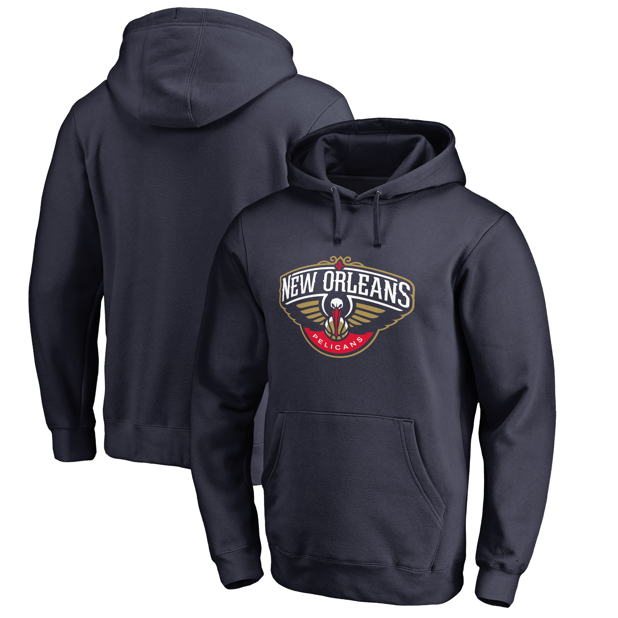 New Orleans Pelicans Primary Logo Pullover Hoodie - Navy