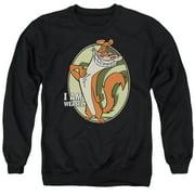 I Am Weasel Weasel Mens Crewneck Sweatshirt