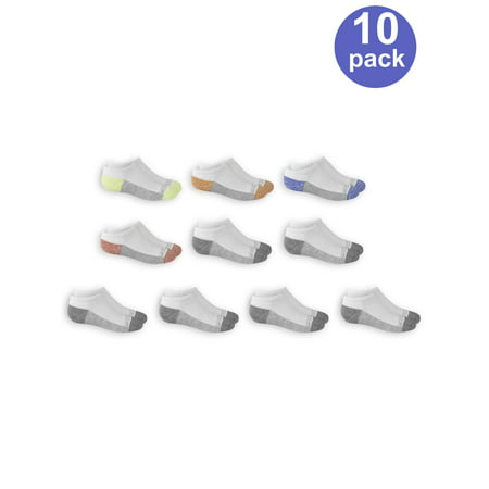Fruit of the Loom No Show Socks, 10 Pairs (Little Boys & Big Boys)