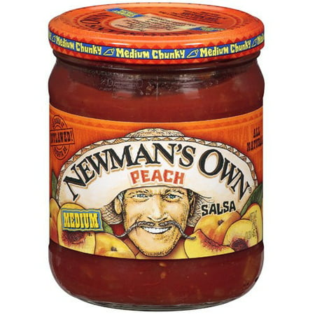Newmans Own Peach Medium Chunky Salsa, 16 oz