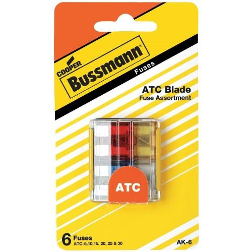 Atc Fuse Assortment Contains 5, 10, 15, 20, 25 & 30 Amp Fuses 32v Ul Recognized