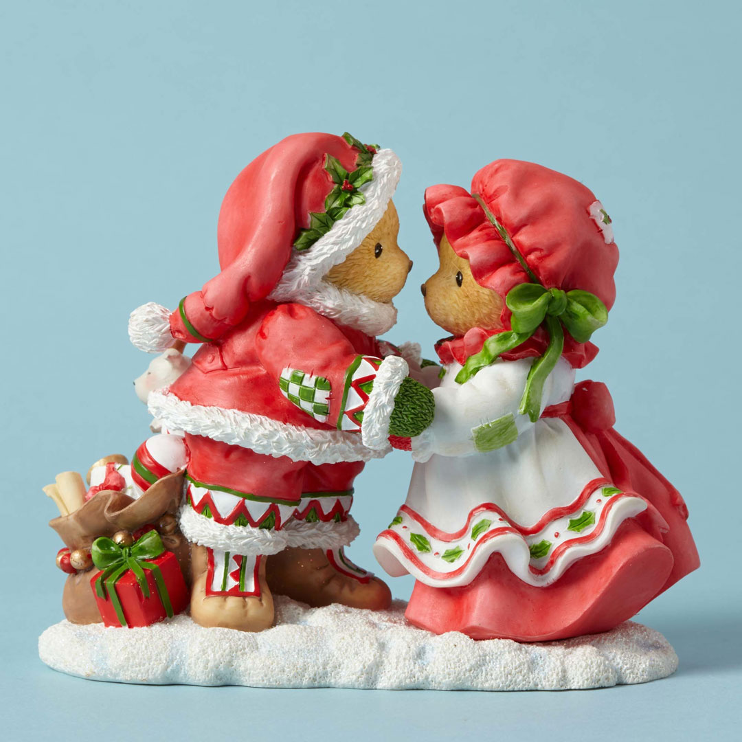 Cherished Teddies 4053455  Mr and Mrs Santa with Toys New 2016