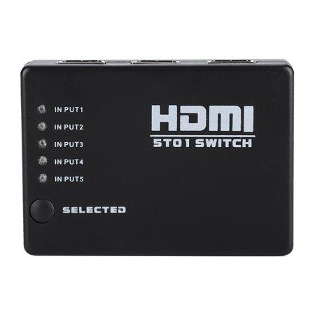 Hellan 5 In 1 Out 1080P HD HDMI Converter Adapter 5 Port Hub Box Auto Switch Video Converter, HDMI Converter,Converter