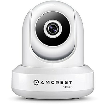 Amcrest 1080P WiFi Security Camera 2MP (1920TVL) Indoor Pan/Tilt Wireless IP Camera, Home Video Surveillance System with IR Night Vision, Two-Way Talk for Pet, Nanny Cam Baby Monitor IP2M-841W (White)