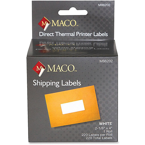 Maco Direct Thermal Printer Labels, 220 Rolls
