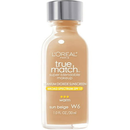 L'Oreal Paris True Match Super Blendable Makeup, Sun Beige [W6] 1 oz