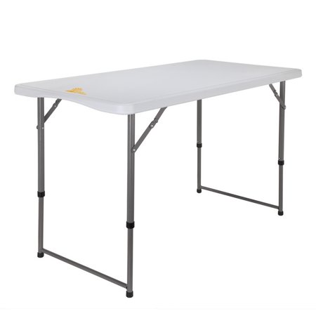 (Palm Springs Portable 4ft Adjustable Height Plastic Folding Banquet Table)