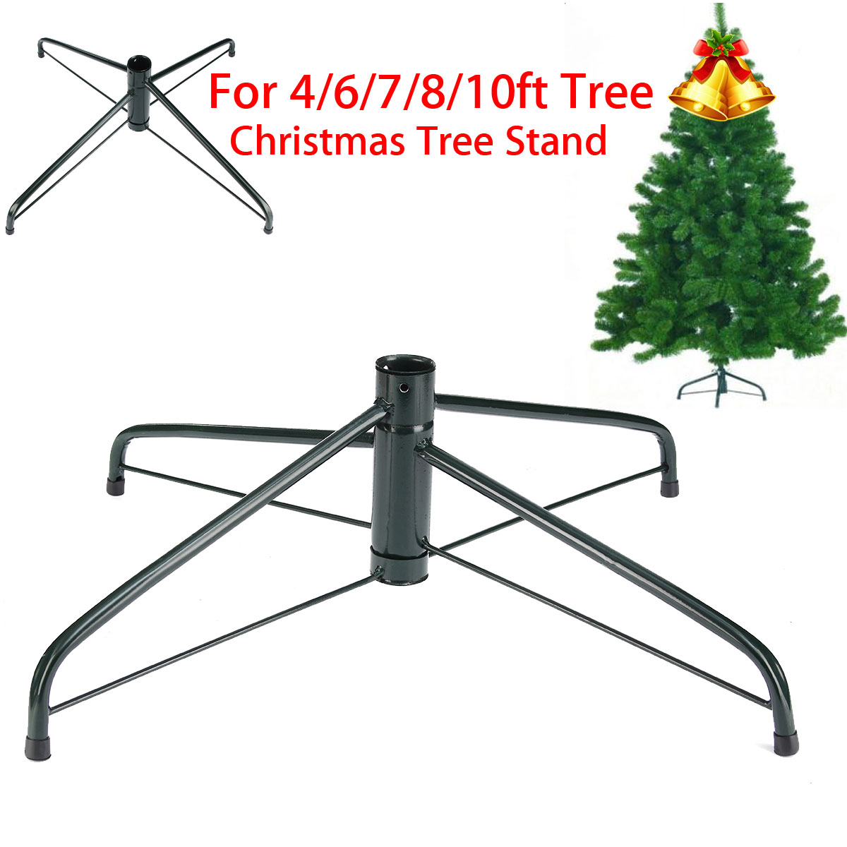Folding Christmas Tree Stand Christmastreemount Metal Holder Cast Iron Stand For Artificial Trees 7ft 8ft Tall Walmart Canada