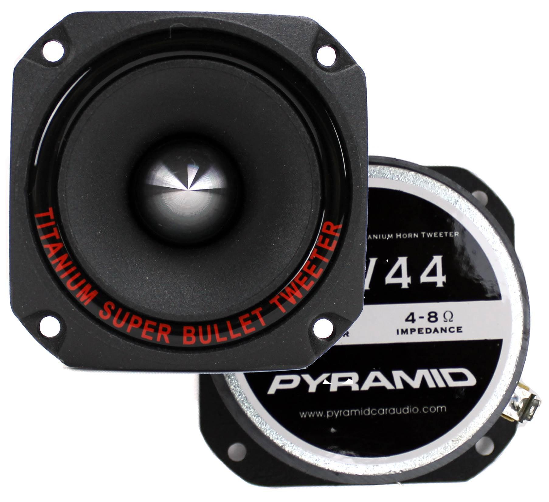 "6 Pyramid TW44 1/"" 300W Heavy Duty Titainium Super Tweeters Car Audio Lot of"