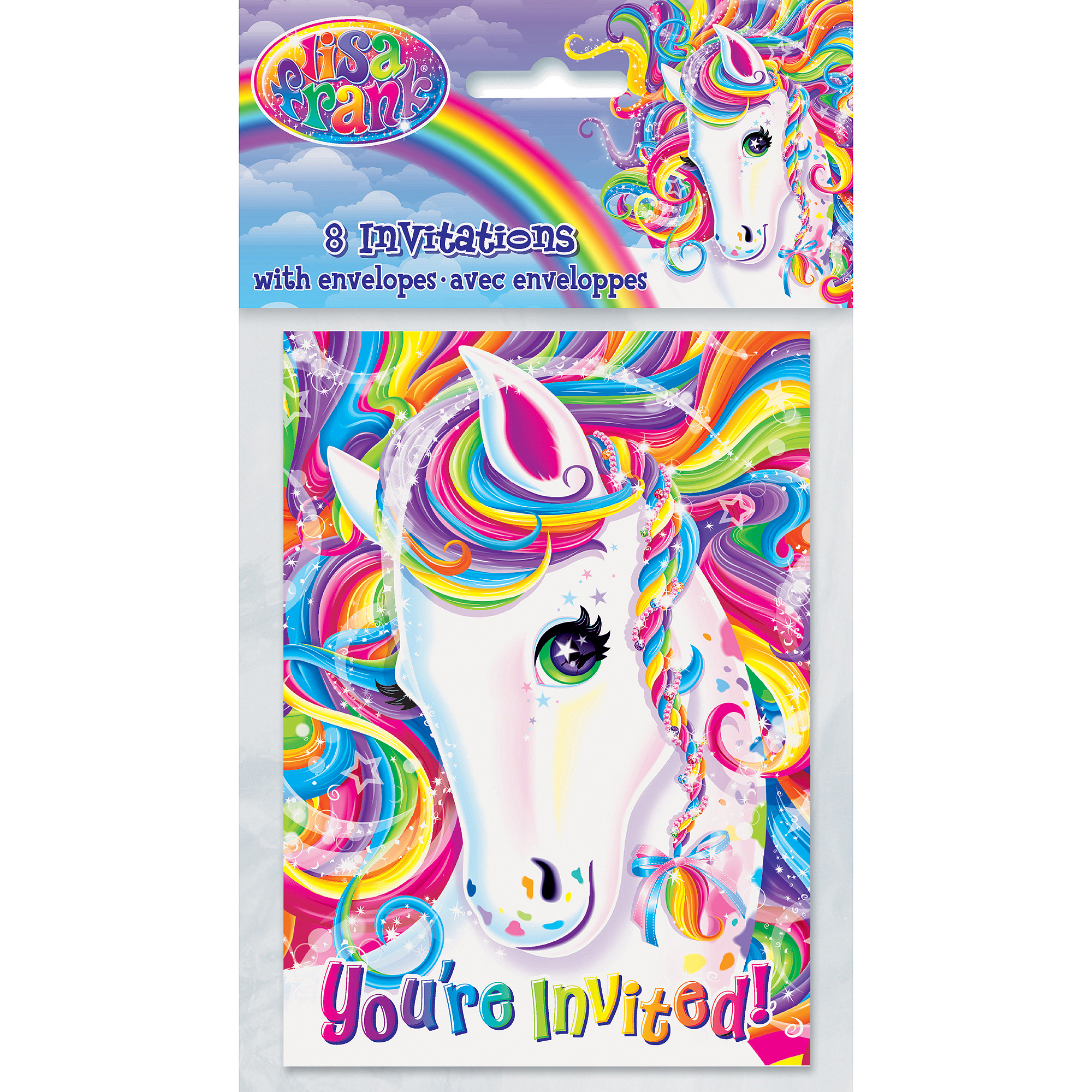 Lisa Frank Rainbow Majesty Invitations, 8pk