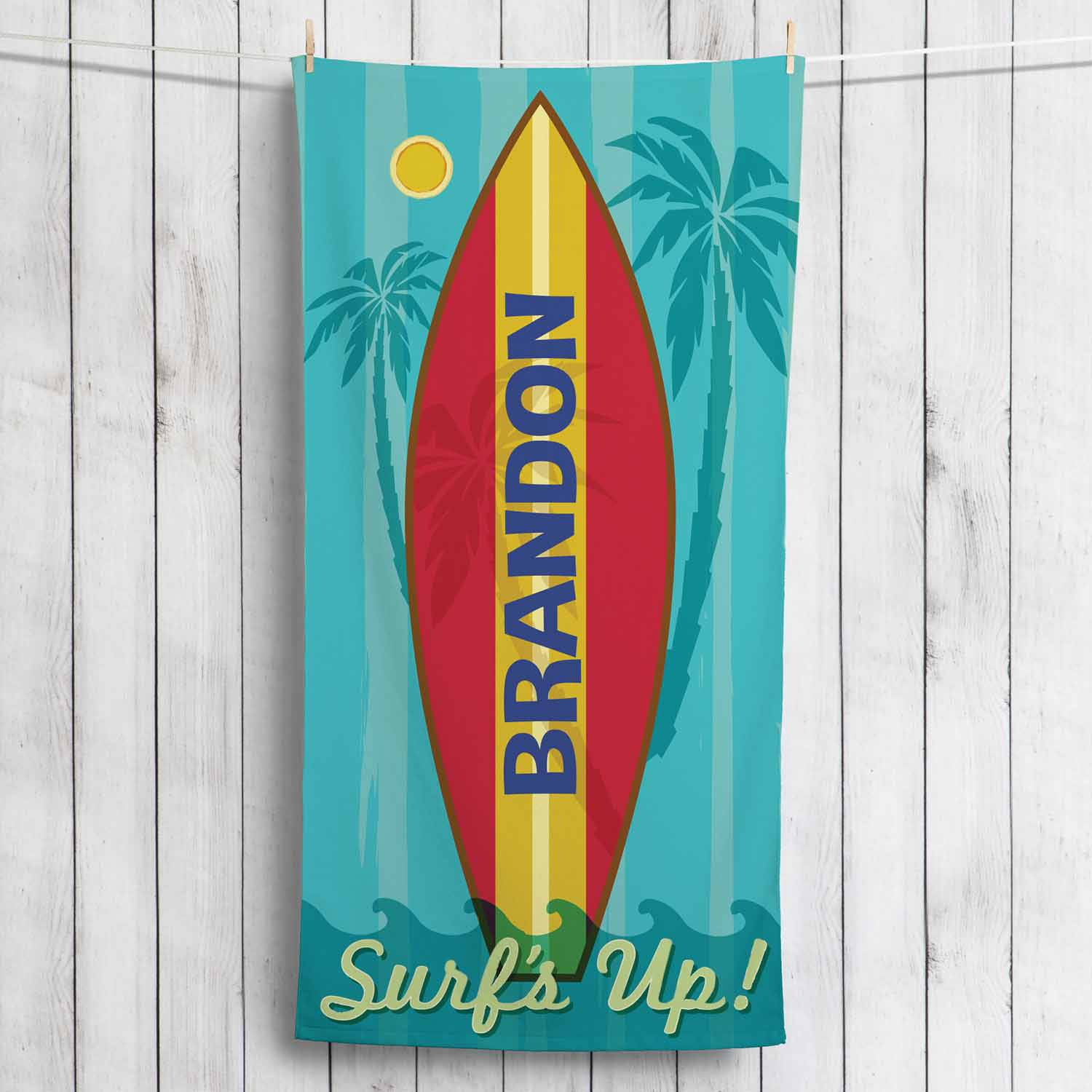 Personalized Surf's Up! Towel