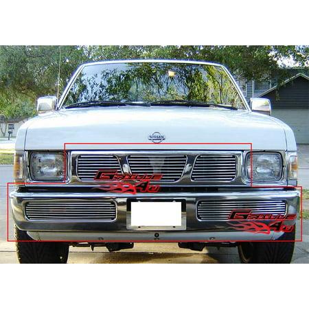 Fits 95 97 Nissan Hardbody Billet Grille Combo N87938A