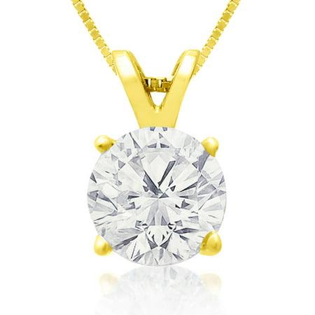 Fine 2 00Ct 14K Yellow Gold Diamond Pendant  Lowest Price Ever