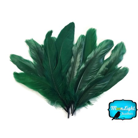 1/4 Lb - Hunter Green Goose Satinettes Wholesale Loose Feathers - Wholesale Hunter Coupon