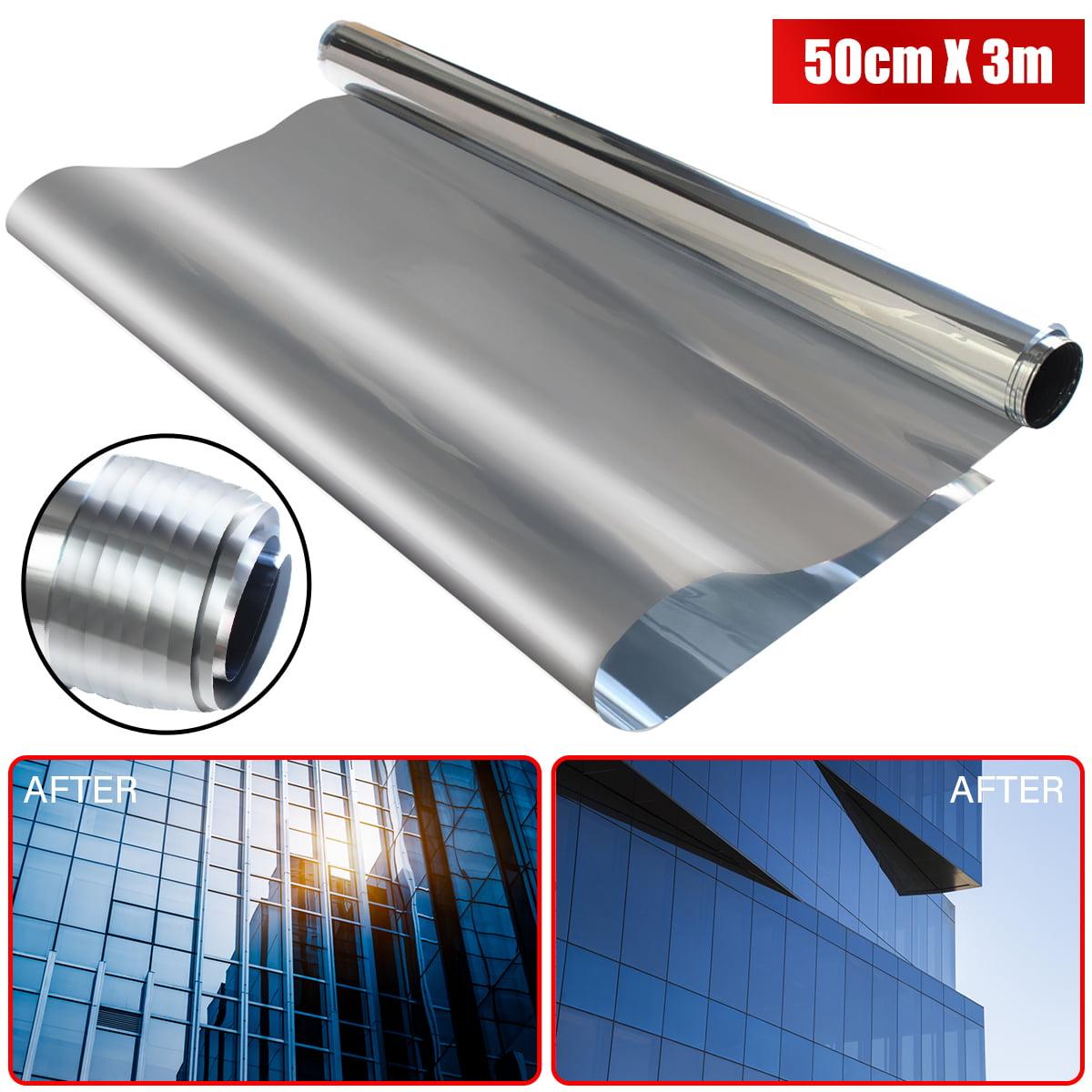 20% Mirror Silver Solar Reflective One Way Window Covering Film Tint Tinting 50cm x 300cm/20'' x 118''