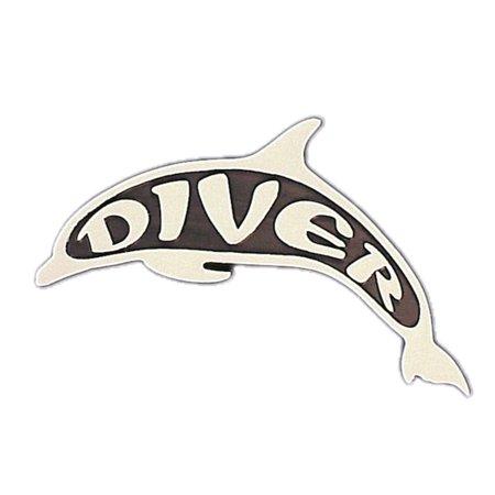 Stick On Plastic Scuba Diving Dive Dolphin Emblem