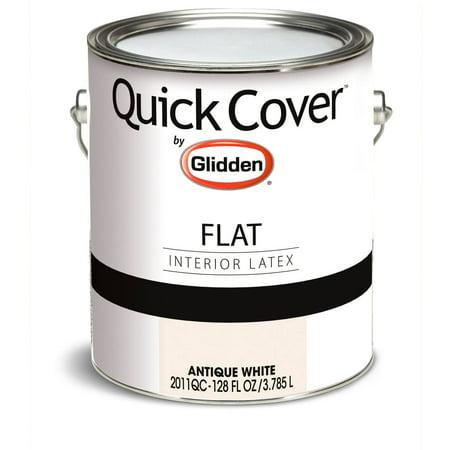 Glidden Quick Cover Interior Paint Flat Finish Antique White 1 Gallon