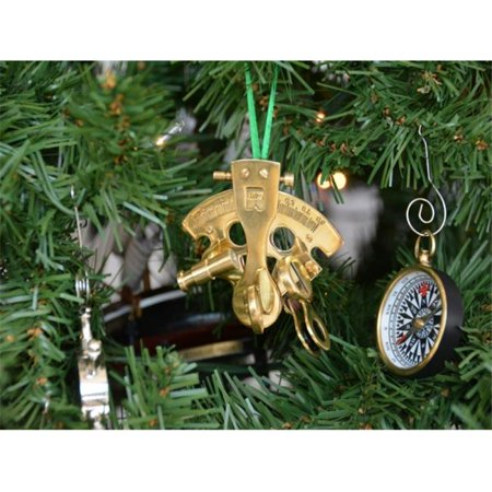 Handcrafted Model Ships Ns 0454 Xmass Brass Nautical Sextant Christmas Tree Ornament