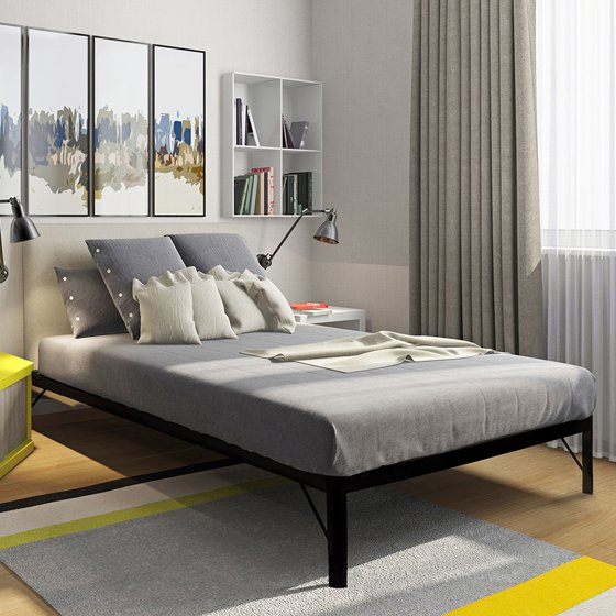 Steel Slat Bed Frame King