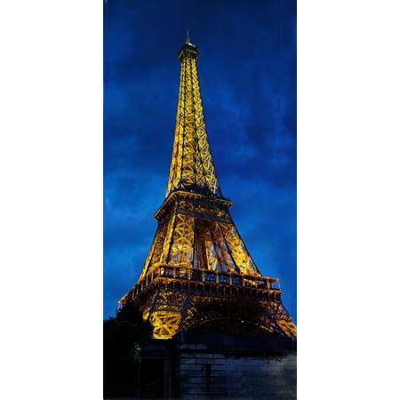 Dusk Eiffel Tower - Canvas Print Paris France Dusk Lighted Eiffel Tower Landmark Stretched Canvas 10 x 14