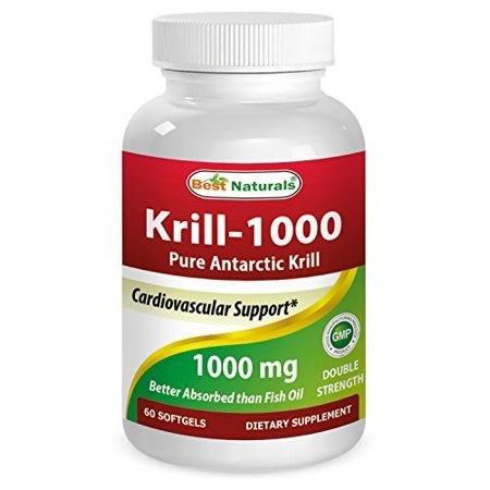 Best Naturals Krill Oil Soft Gel, 1000 mg, 60 (Best Rated Krill Oil Supplements)
