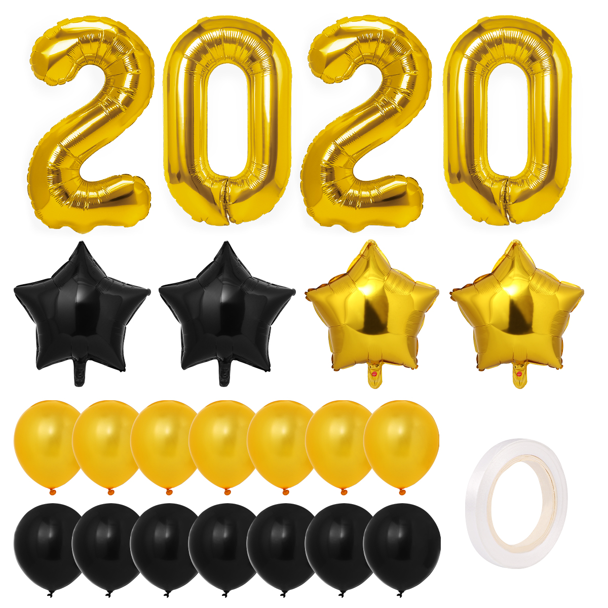 Toyvian 2020 Balloon Decorations Set Metallic New Years ...