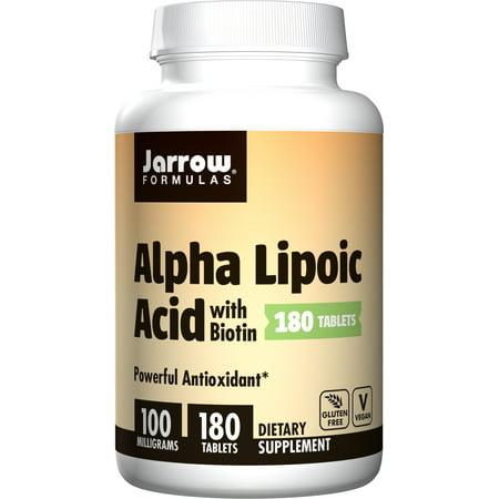 Jarrow Formulas Alpha Lipoic Acid, Supports Energy, Vision, Liver, Cardiovascular Health, 100 mg, 180 Easy-Solv Tabs Formulas Alpha Lipoic Acid