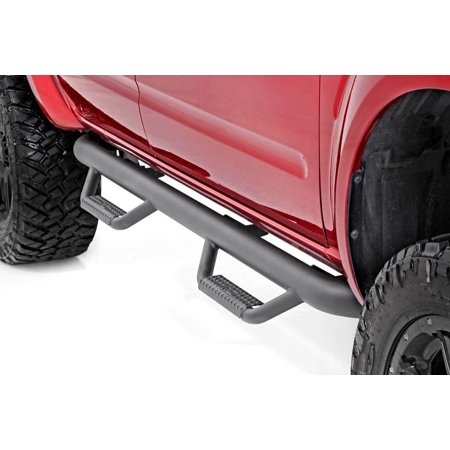 Rough Country Nerf Bar Drop Steps Fits 2005-2018 [ Nissan ] Frontier Crew Cab Truck Side Steps 82001