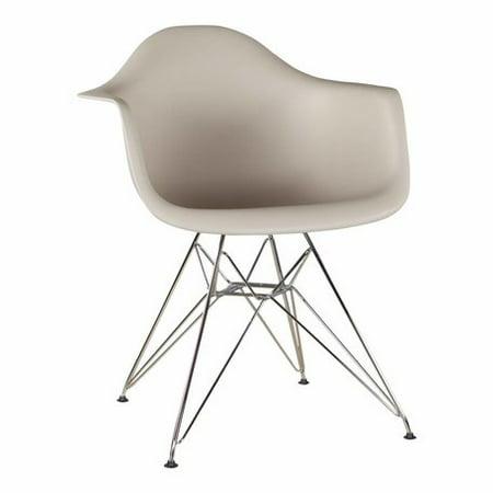 Superb Mid Century Modern Eiffel Style Bucket Dining Chair With Metal Base Skin Machost Co Dining Chair Design Ideas Machostcouk