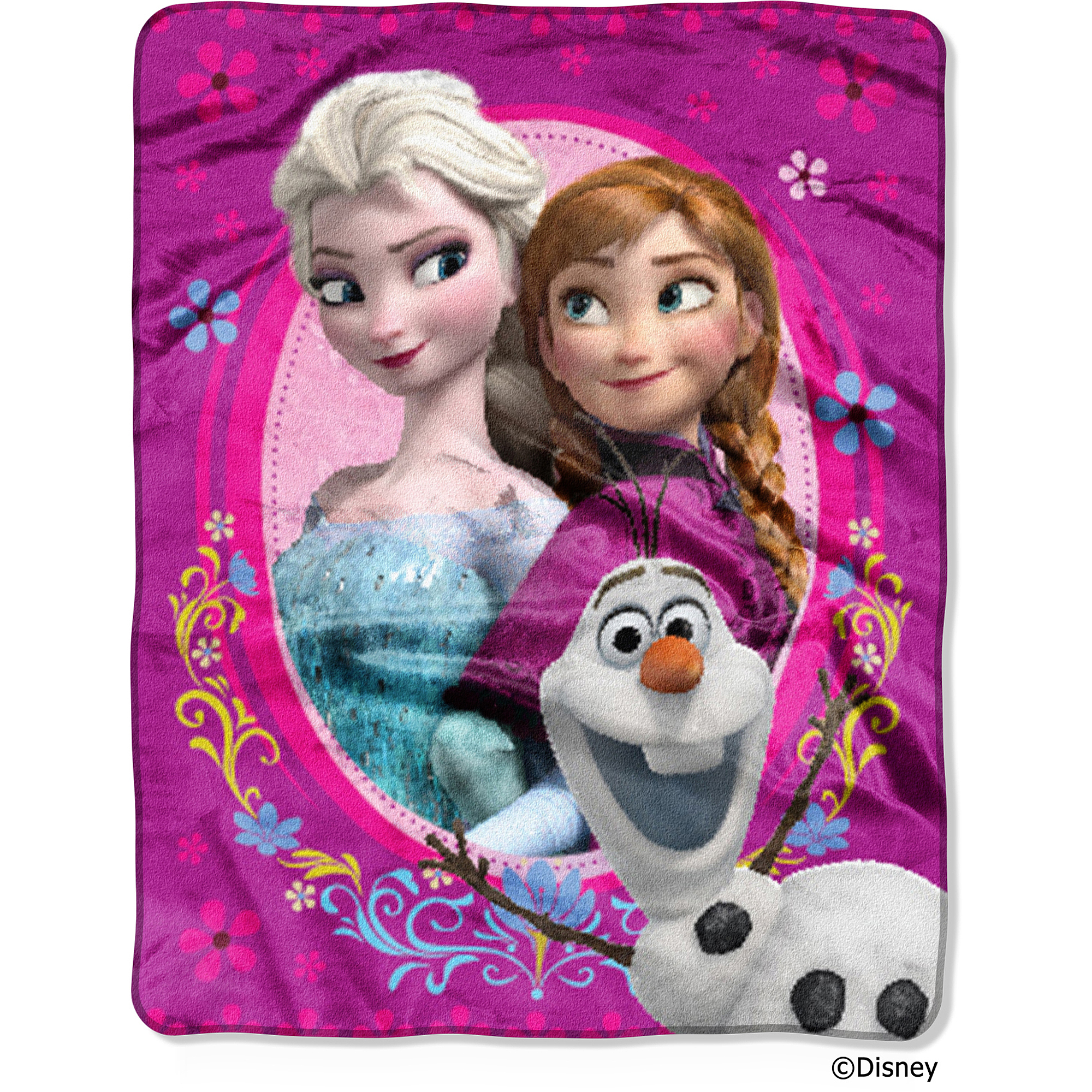 "Disney Frozen Spring Zing 40"" x 50"" Silk-Touch Throw"