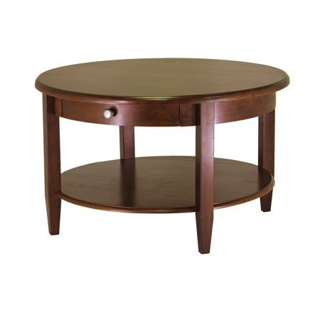 Winsome Wood Concord Round Coffee Table, Walnut Finish