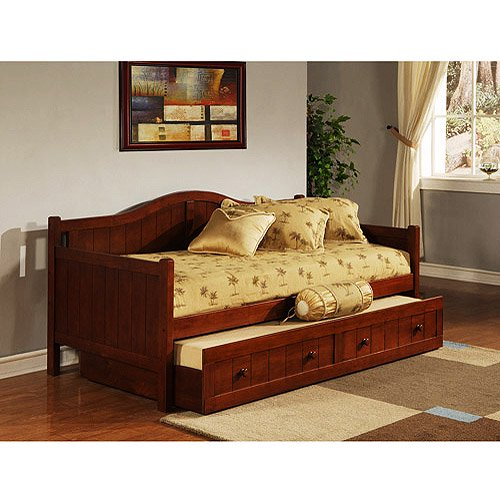 Staci Daybed With Trundle Cherry Walmart Com