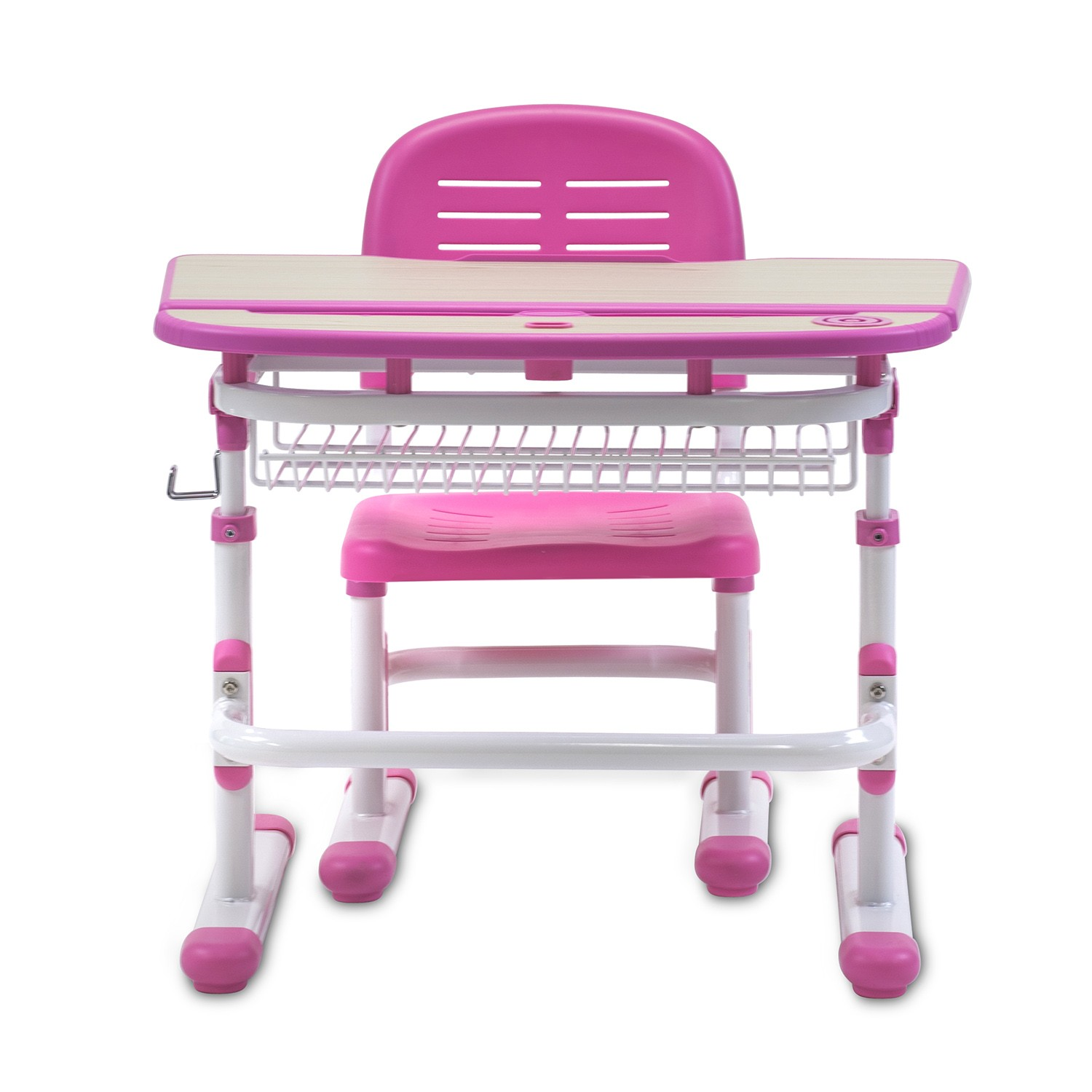 Mount-It! Childrens Desk and Chair Set, Kids School Workstation, Pink (MI-10101) - Walmart.com