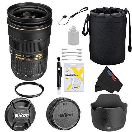 Nikon 24-70mm f/2.8G ED AF-S Wide Angle Zoom Lens + Pixi-...