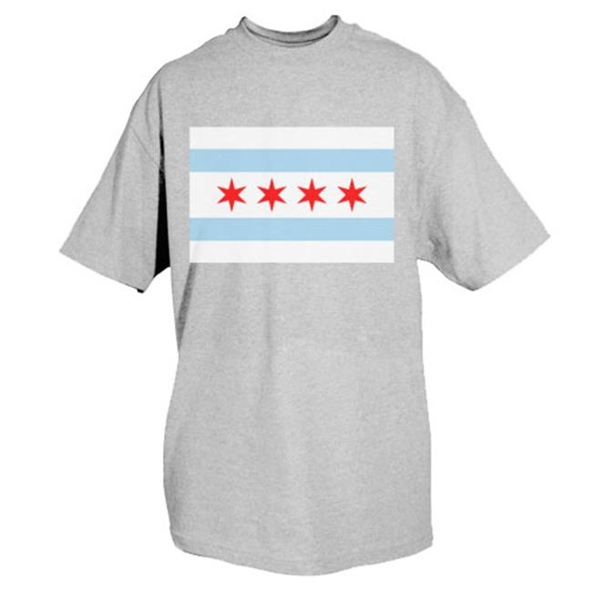 Chicago Flag T Shirt Grey 3xl