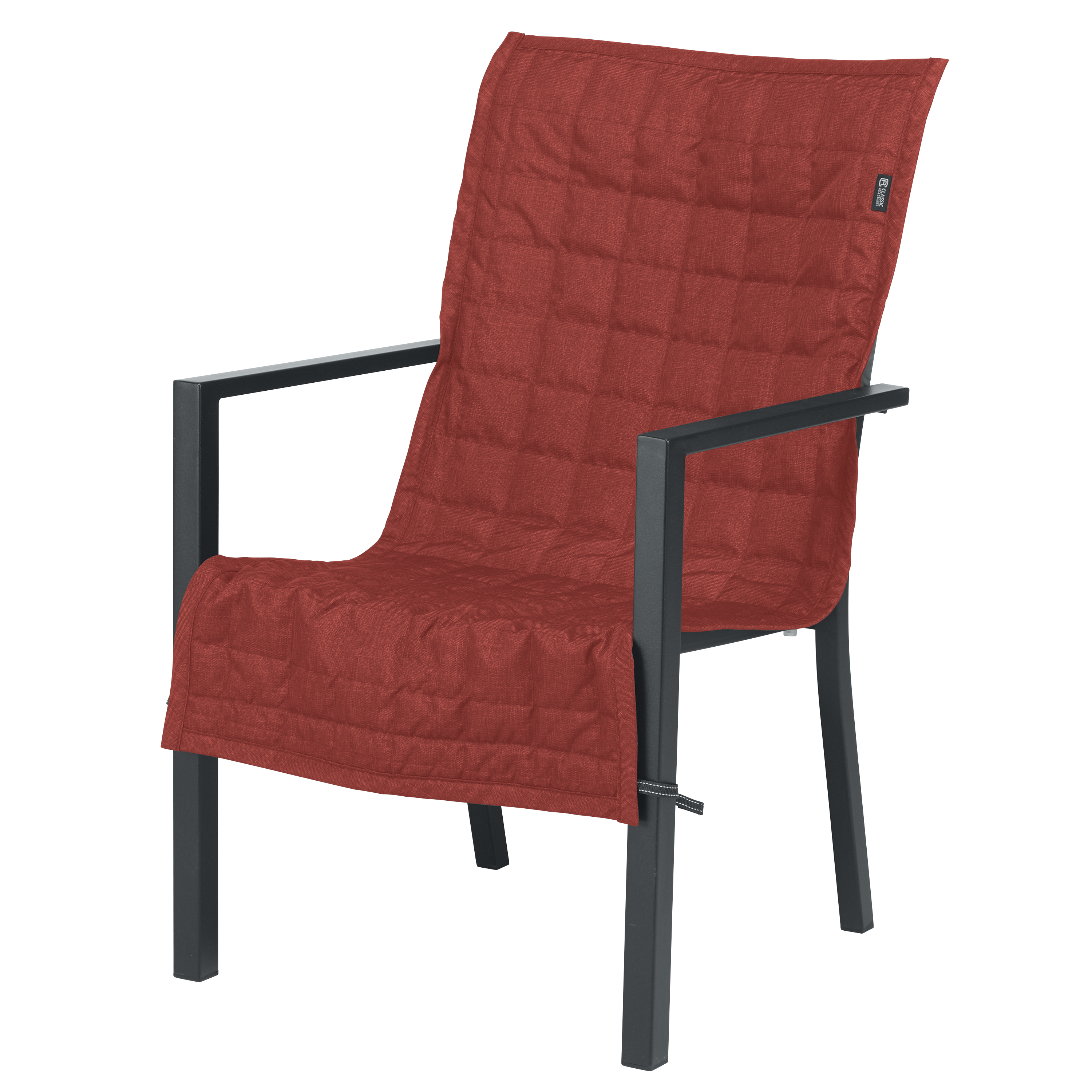 "Classic Accessories 45""x20"" Red Patio Chair Slipcover, Montlake"