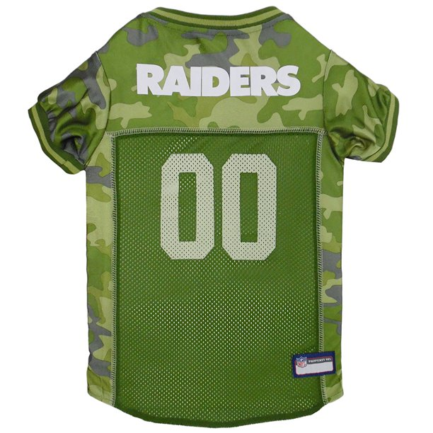 Pets First NFL Oakland Raiders Camouflage Pet Jersey for Cats and ...