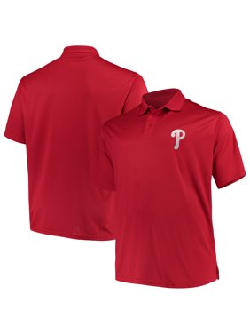 9832d91ee94 Product Image Philadelphia Phillies Majestic Big & Tall Solid Birdseye Polo  - Red