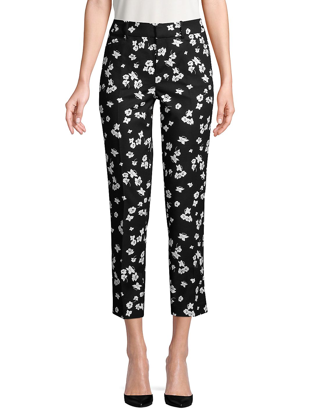 Petite Floral Cropped Pants