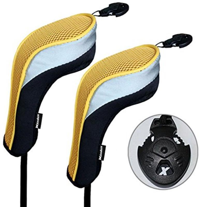 2 Pack Andux Golf Hybrid Club Head Covers Interchangeable...