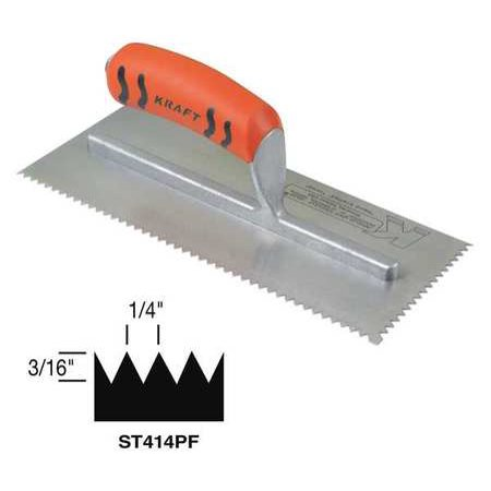 Superior Tile Cutter Inc. And Tools 11, Trowel, V-Notch, ST414PF