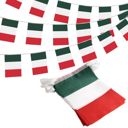 ANLEY Italy Italian Republic String Pennant Banners, Patriotic Events 2nd of June National Day Decoration Sports Bars - 33 Feet 38 Flags ()