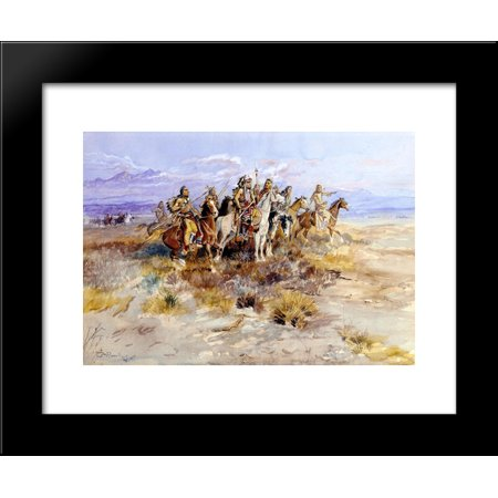 Indian Scouting Party 20x24 Framed Art Print by Charles M. Russell