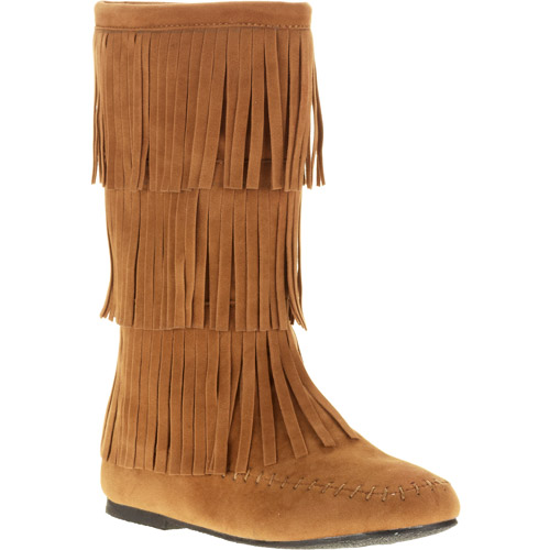 Josmo Girl's Faux Suede Fringe Boot