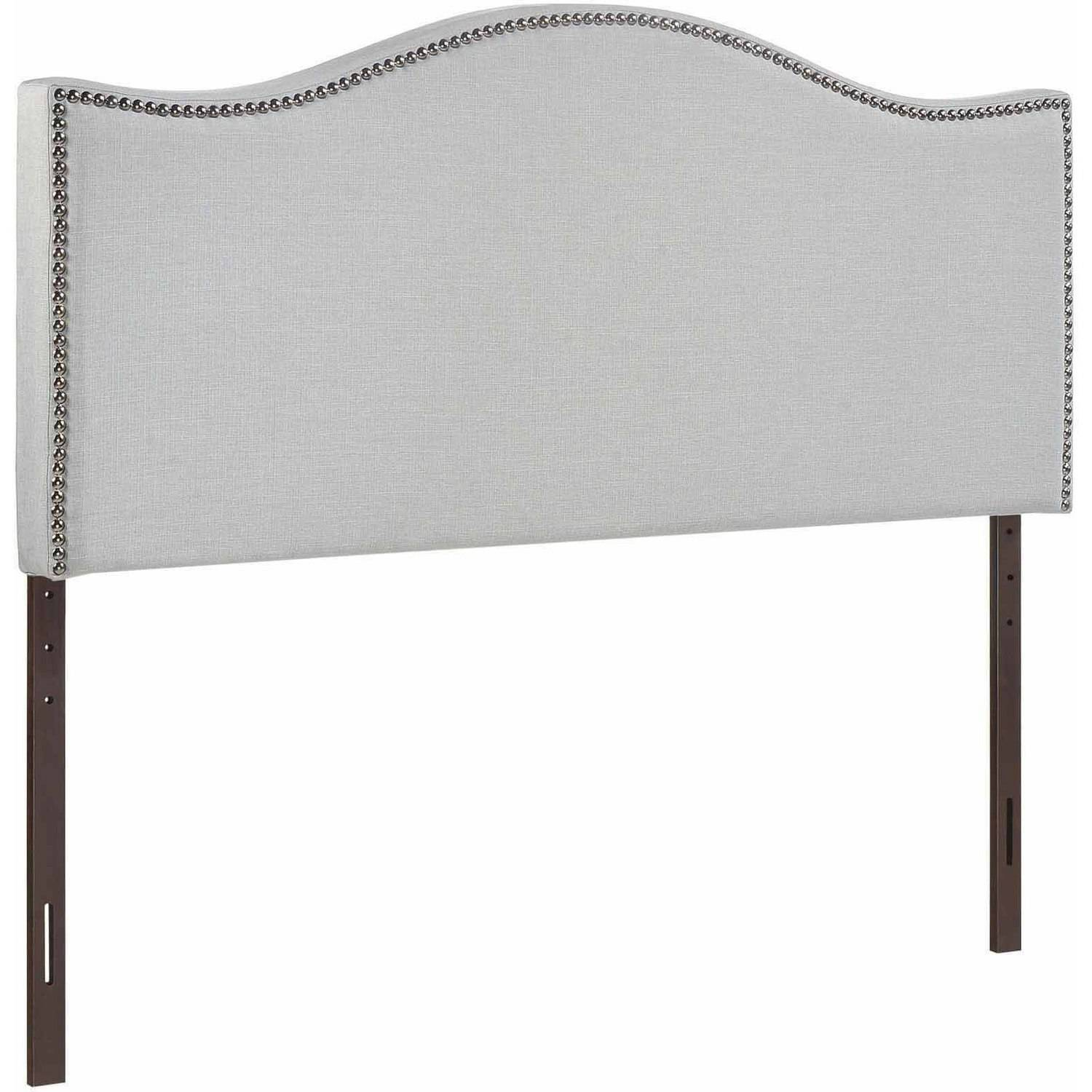 Modway Curl King Nailhead Upholstered Headboard, Multiple Colors -  Walmart.com - Modway Curl King Nailhead Upholstered Headboard, Multiple Colors