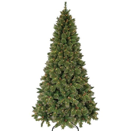 artificial christmas tree pre lit 75 gold glitter clear lights - Glitter Christmas Tree