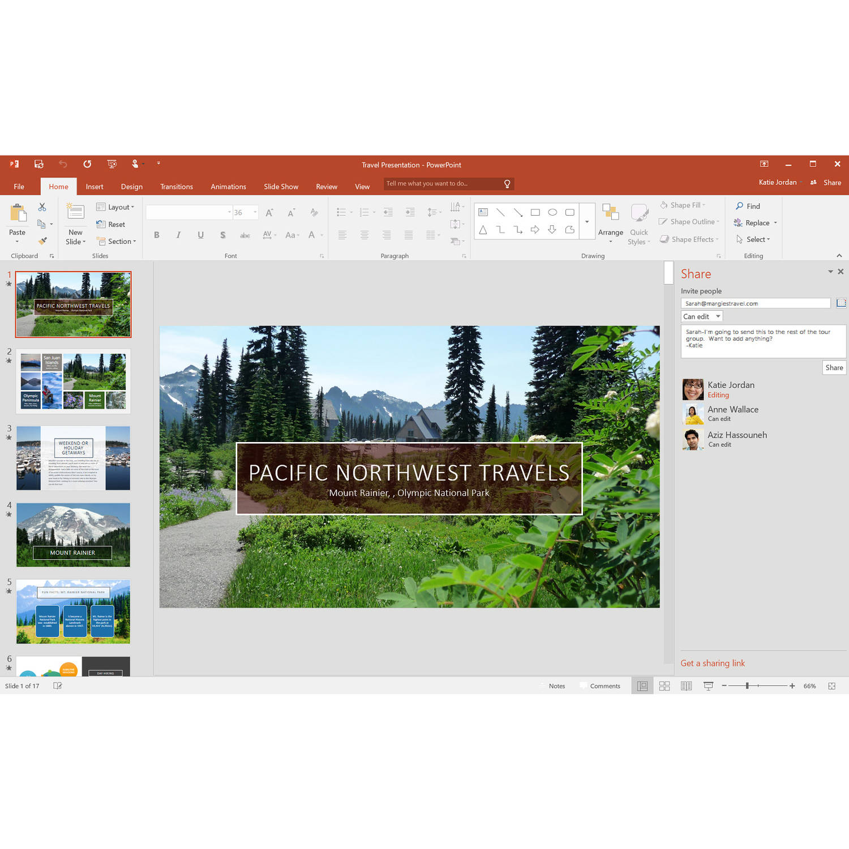 Microsoft Office 365 Home- 5 PCs/Macs + 5 Tablets/iPads, 1-year ...